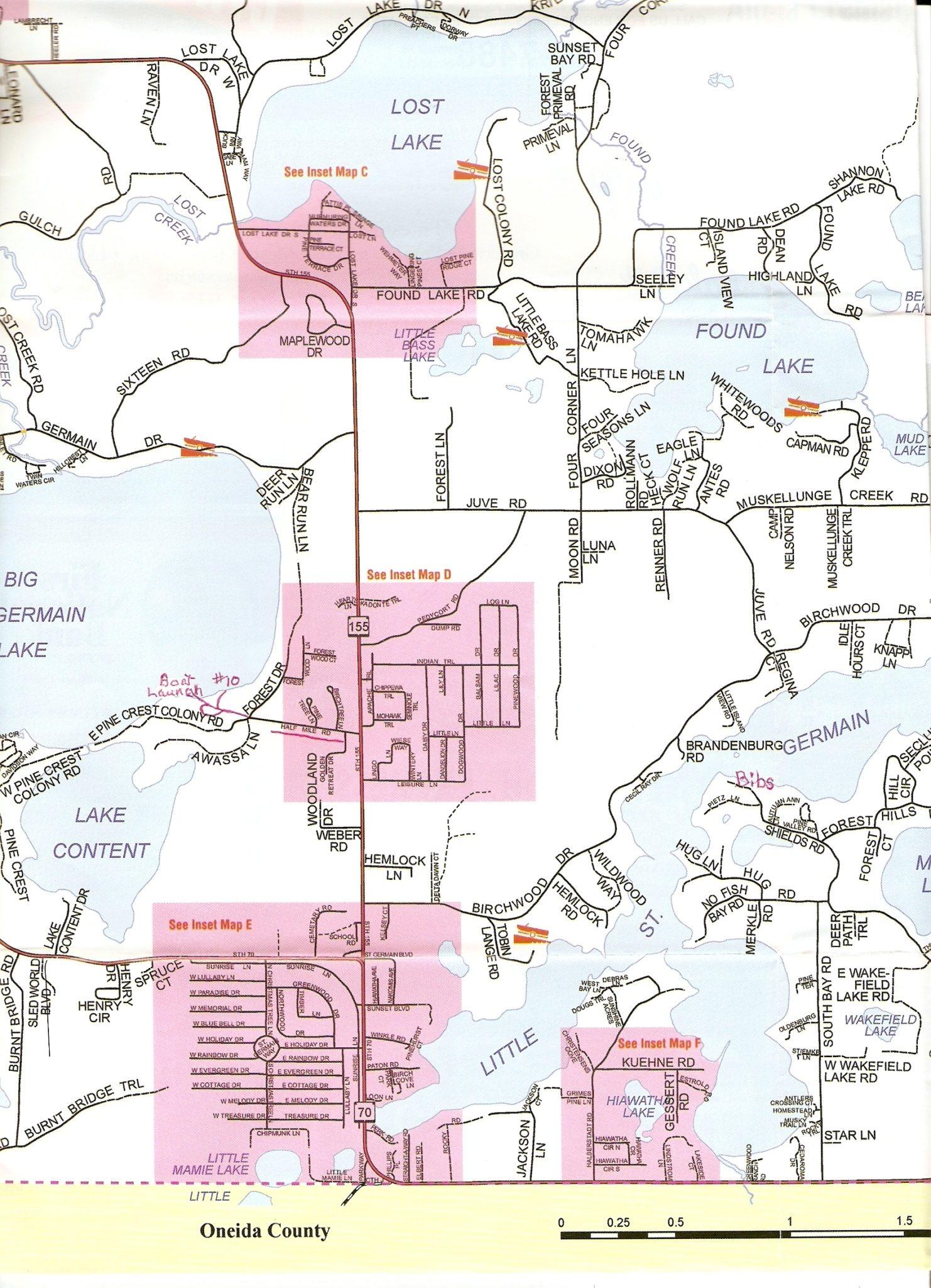 Big St Germain Lake Northern Wisconsin Northwoods